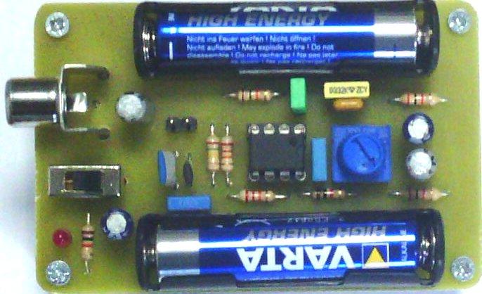 Réalisation d'un préamplificateur pour micro électret