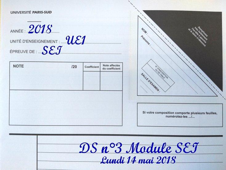 [S2 2018] Programme du DS SEI n°3