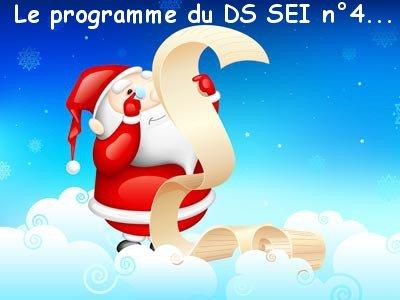 [S3 2018] Programme du DS SEI n°4