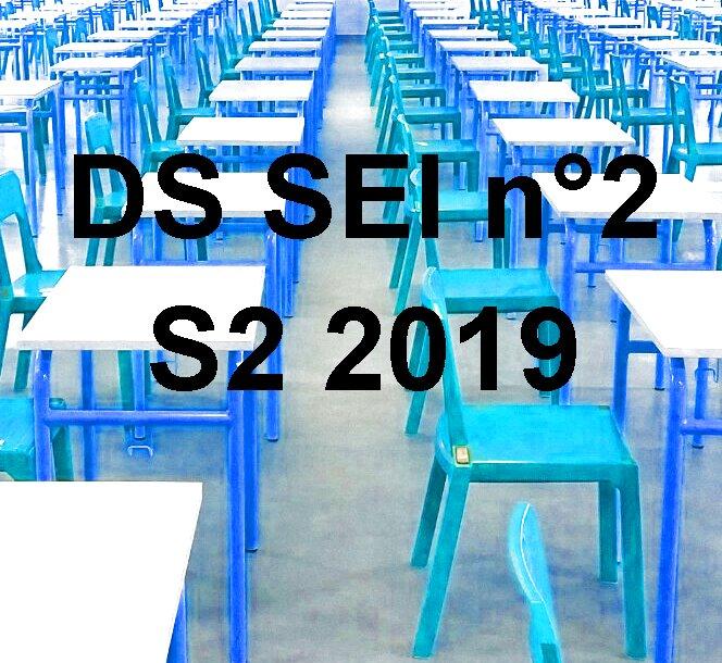 [S2 2019] Programme du DS SEI n°2